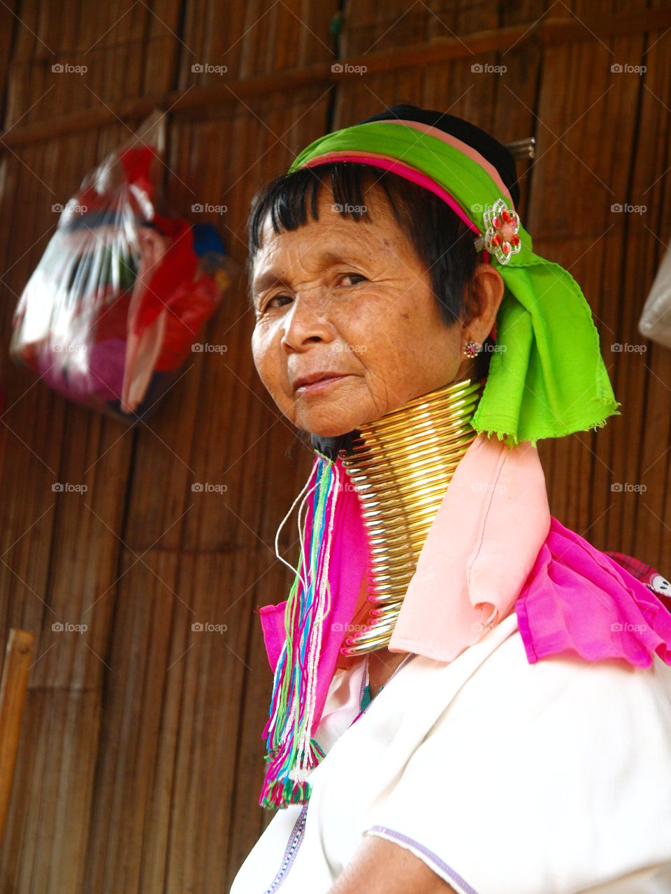 Womam Woman from the long neck tribe. Northern Thailand