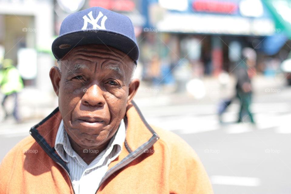New York Man. Elderly New York Man