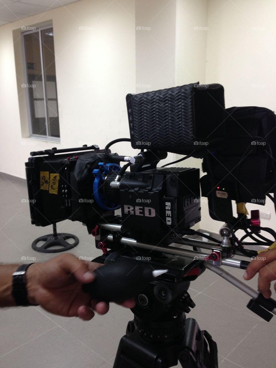 Red camera. Scarlett camera