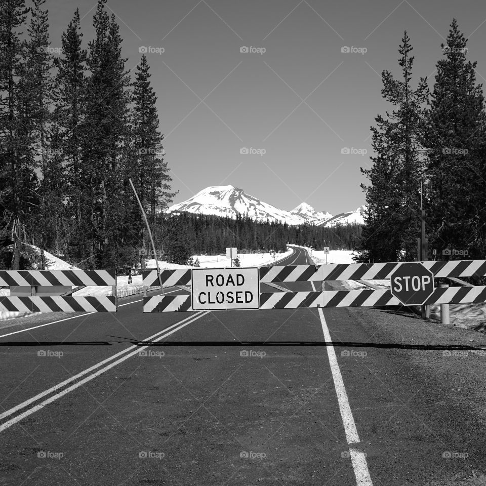 The Cascade Lakes Highway remains closed for a couple more days during late spring.