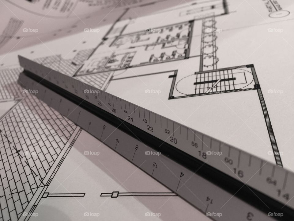 Draftsman' Scale. Draftsman's Scale on architectural drawings