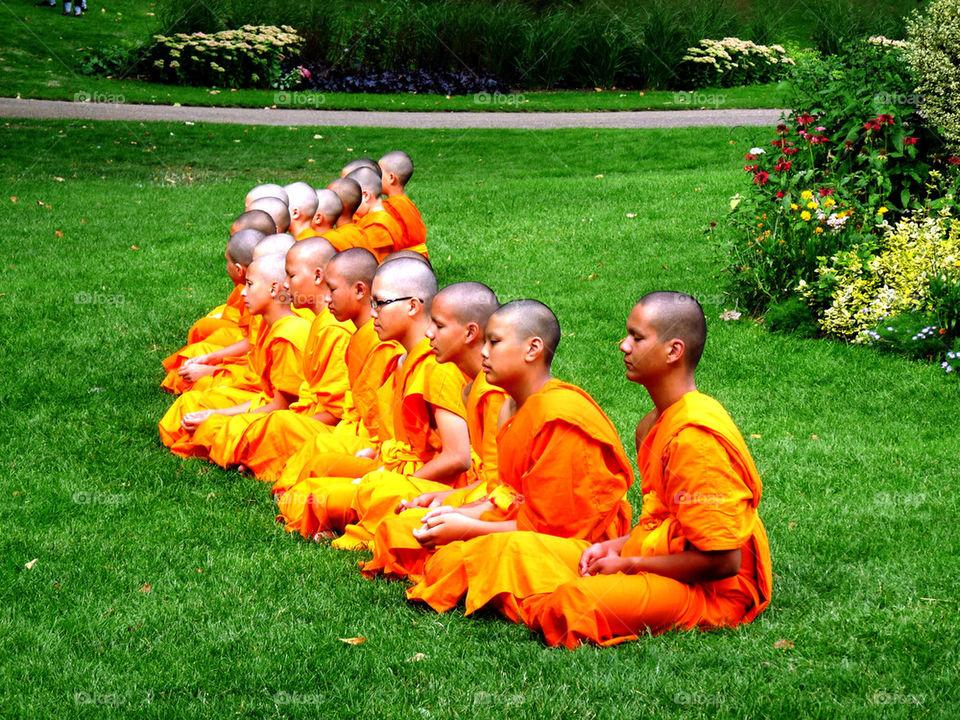 green grass orange religion by llotter