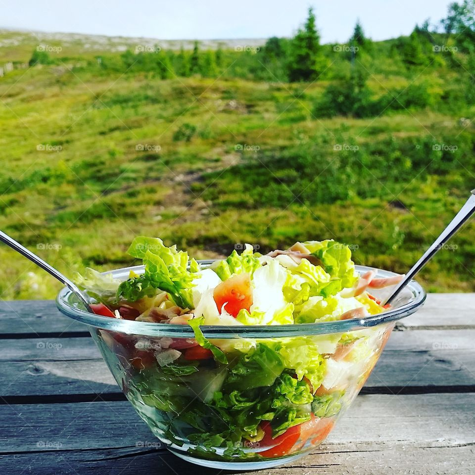 Salad with a view