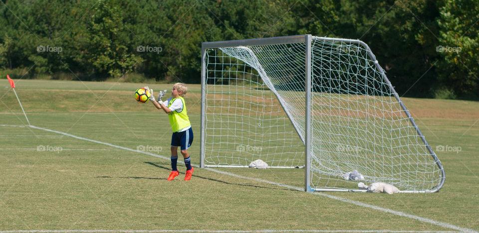 soccer goalie catch