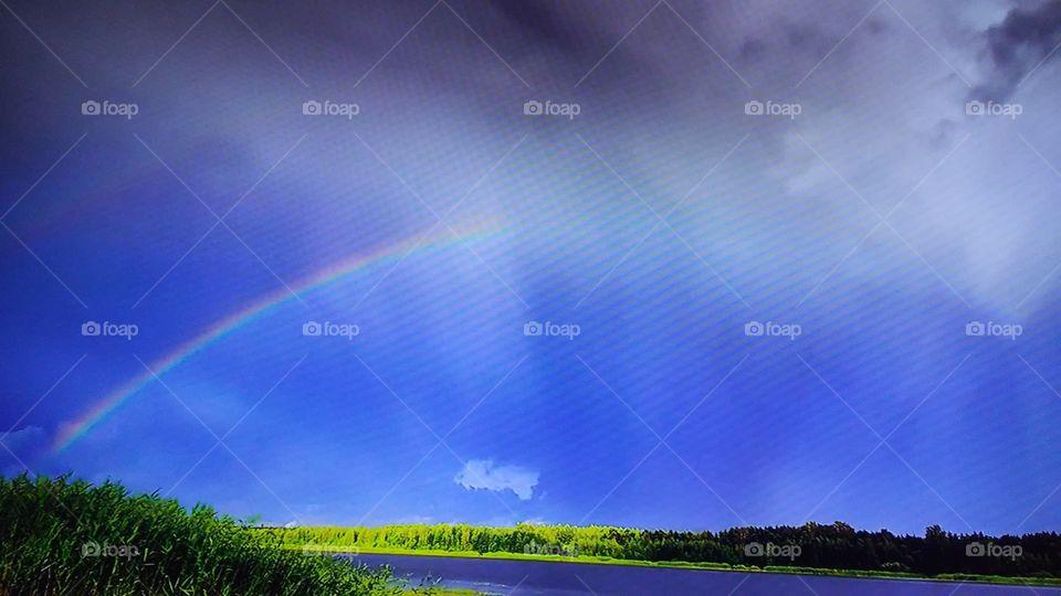 Rainbow, Sky, Nature, Landscape, Storm