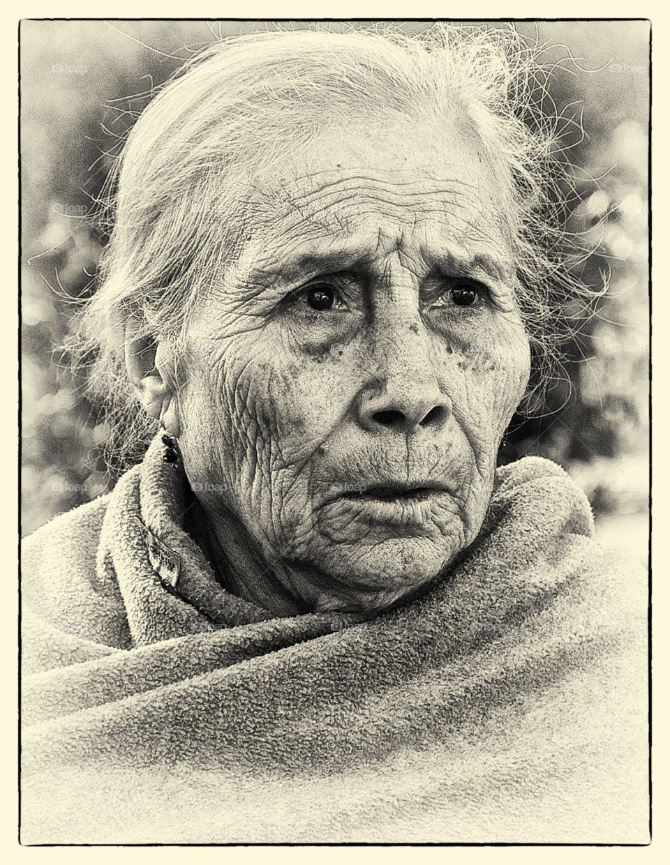 mexico wrinkles lady portait by resnikoffdavid