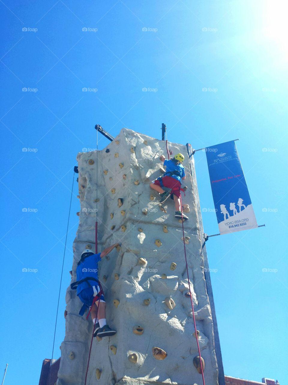 Fall Fun Fest Rock Wall