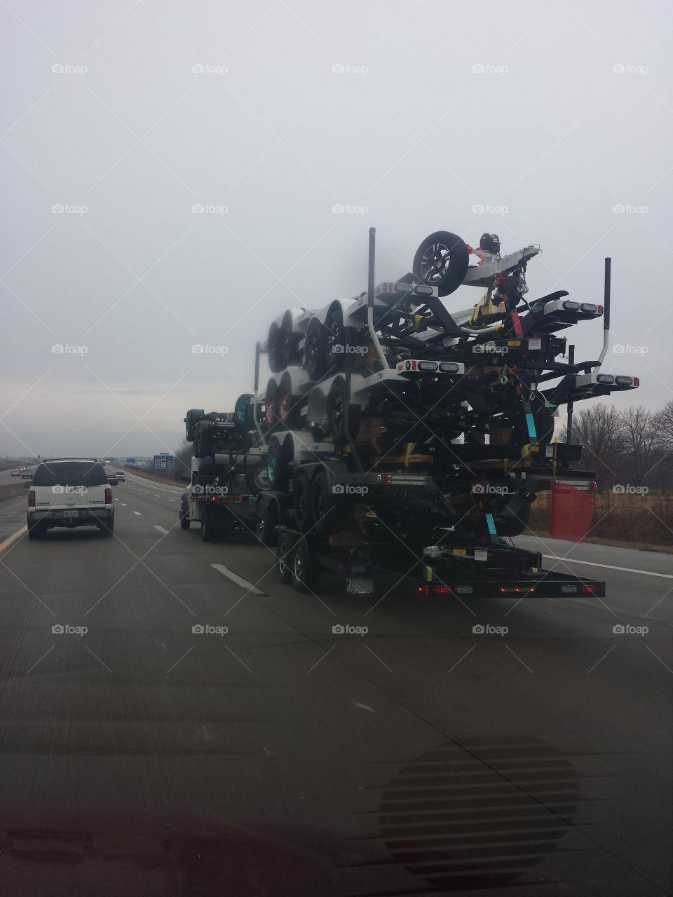 trailer full of trailers