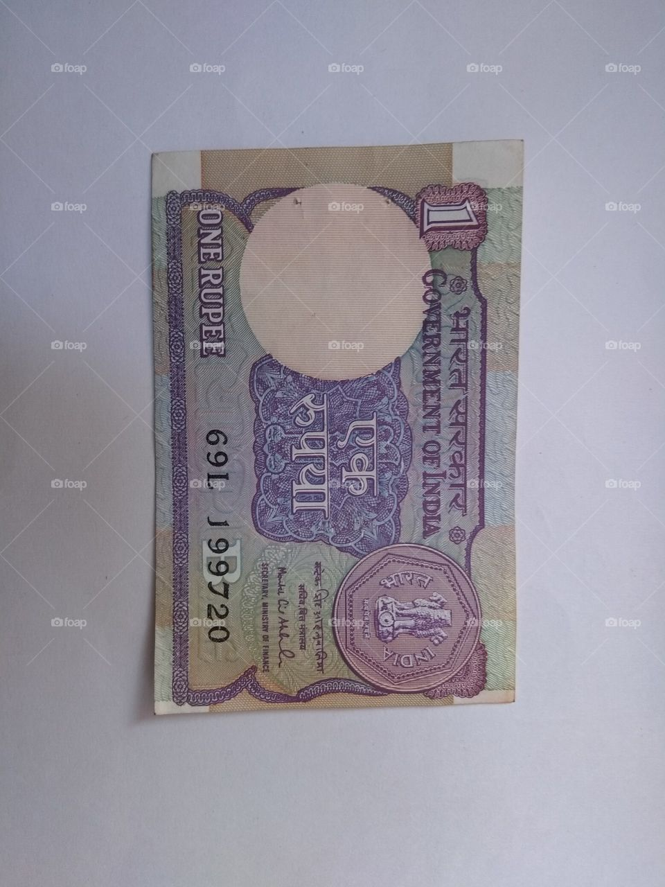 one rupees