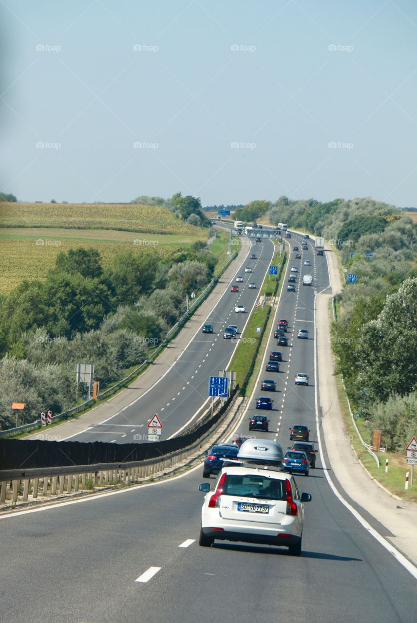 Motorway from the top