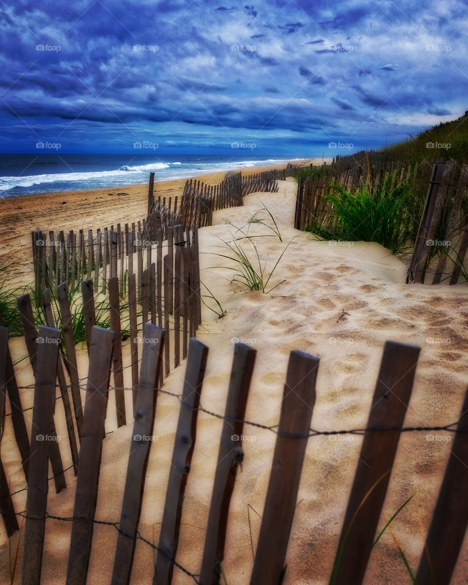 East Hamptons Main Beach, New York Beaches, Vacation Time, Summertime Beach Fun, Fence Line On The Beach