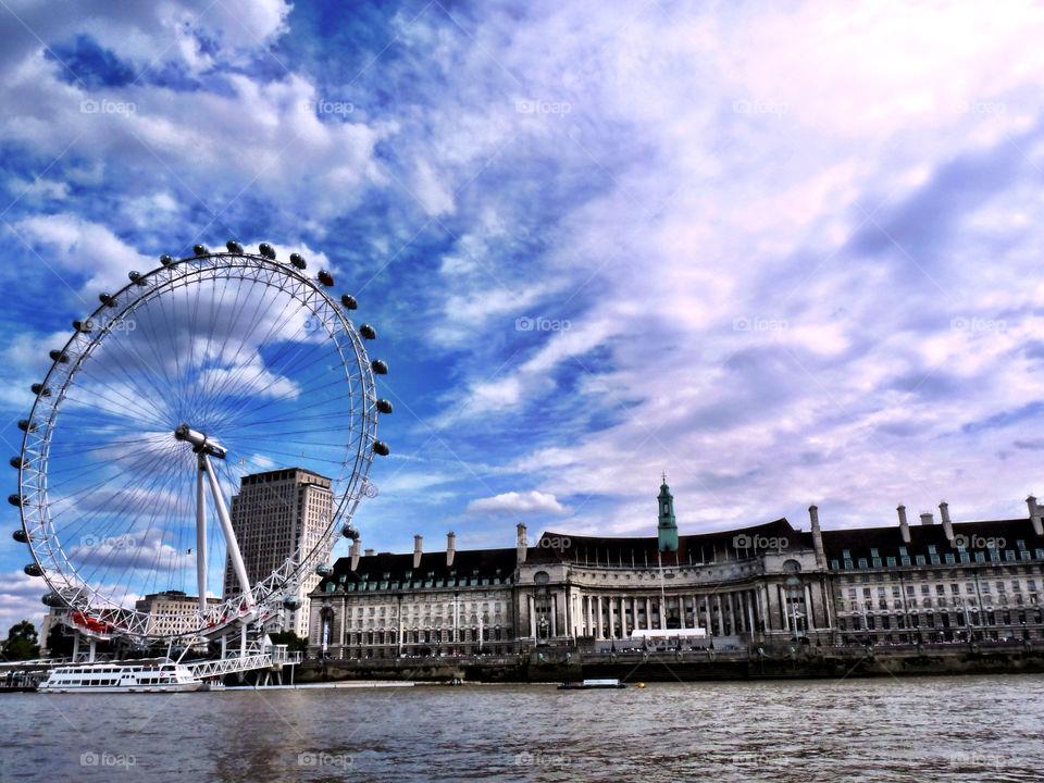 london buildings eye river by llotter