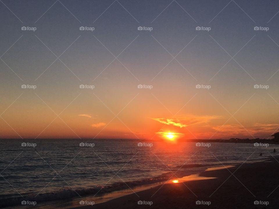 Sunset, Dawn, Water, Sun, Dusk