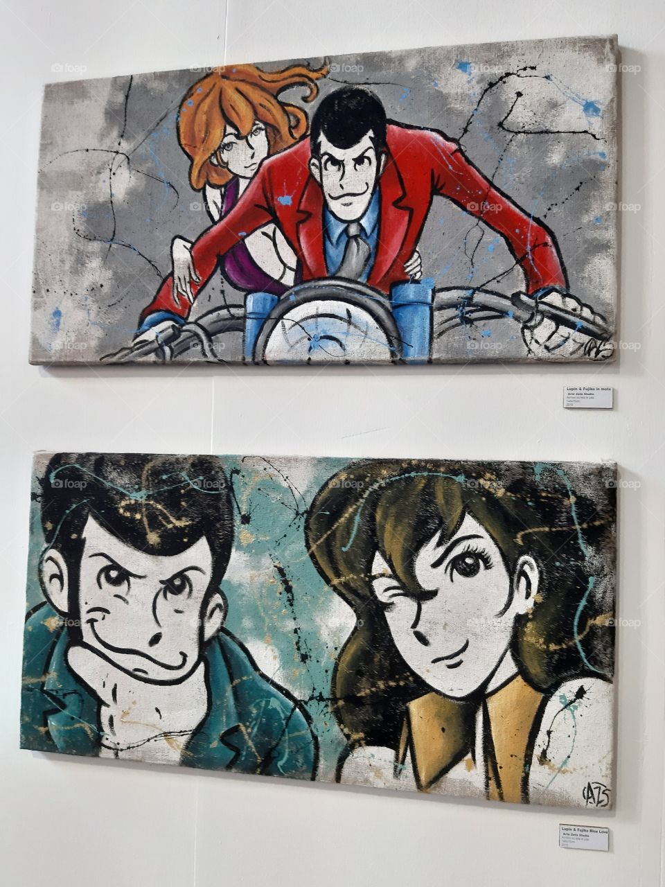 Lupin paint painting