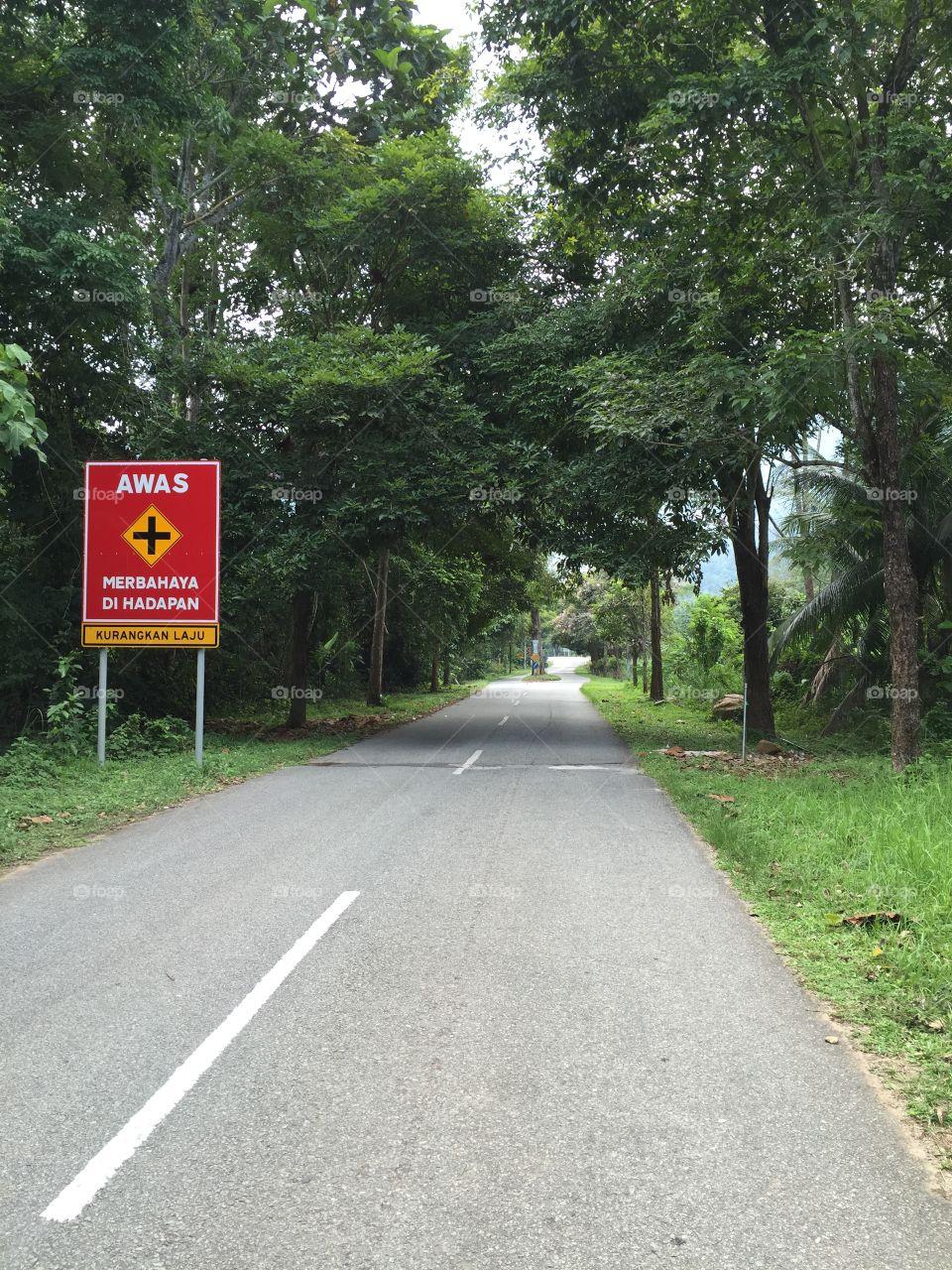 Road to waterfall in Kedah, Malaysia. Taken on 19 April 2015