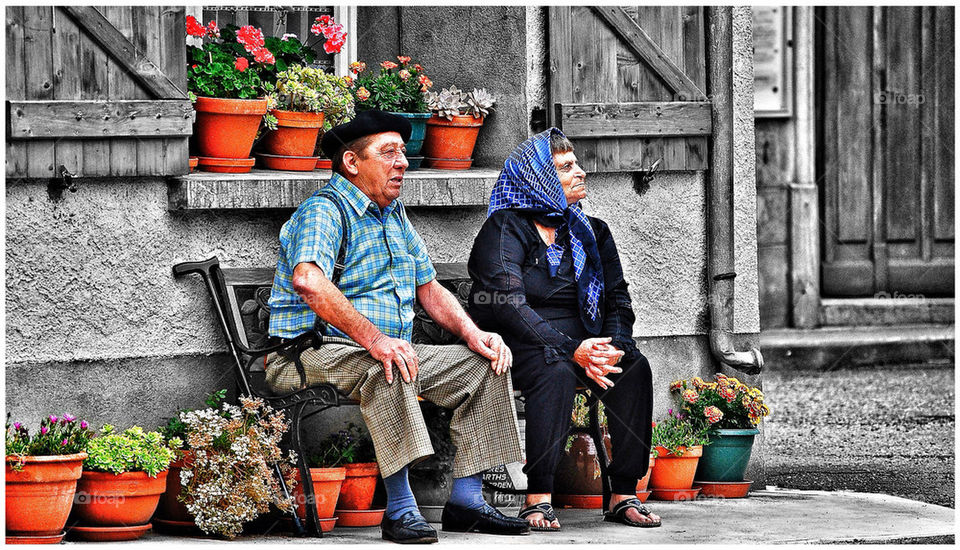 Man and wife  in france