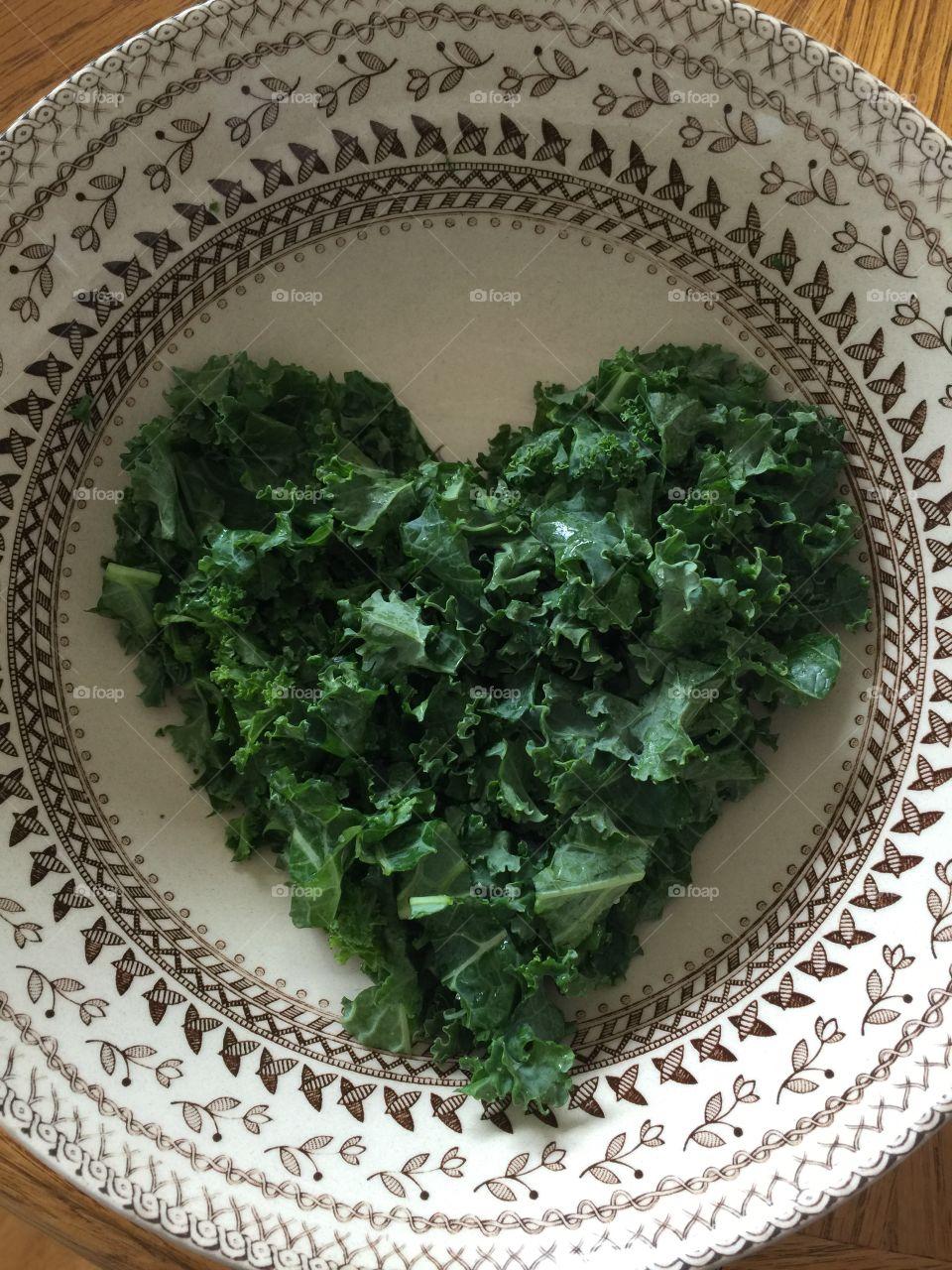 Kale heart