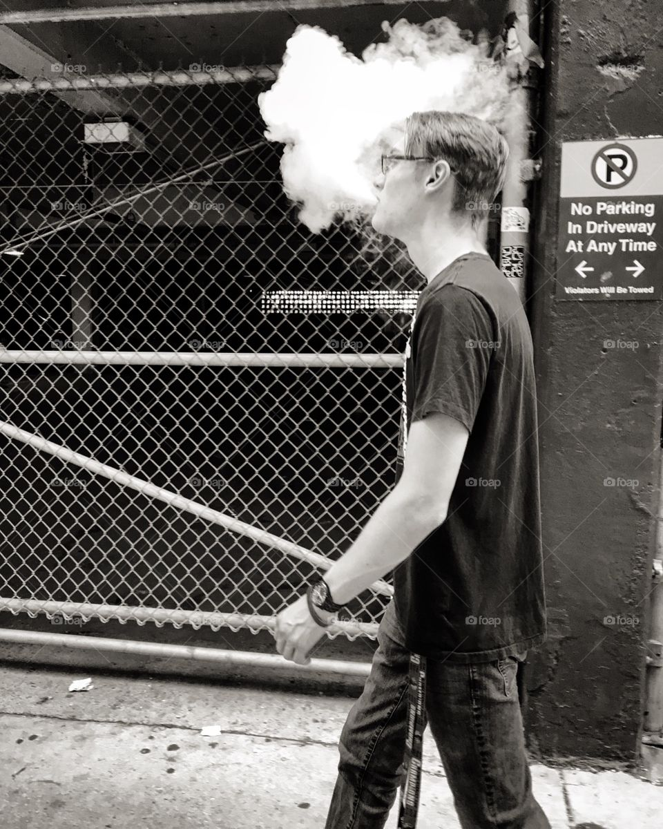 Not a fan of vaping, but dang it looks cool Caught in photos.