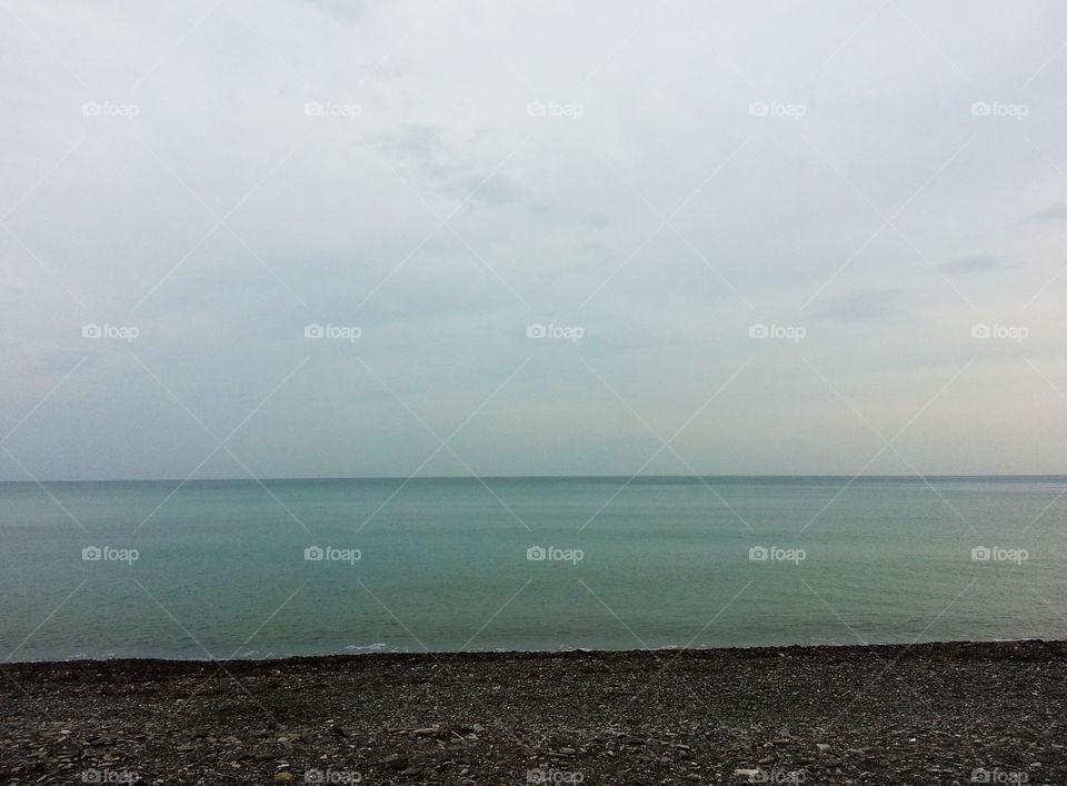 Ocean horizon landscape
