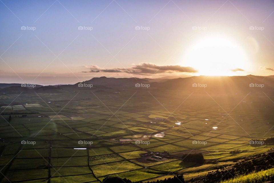 What better place to see a sunset than in Ilsnad Terceira, Azores. Beautiful view for tourists