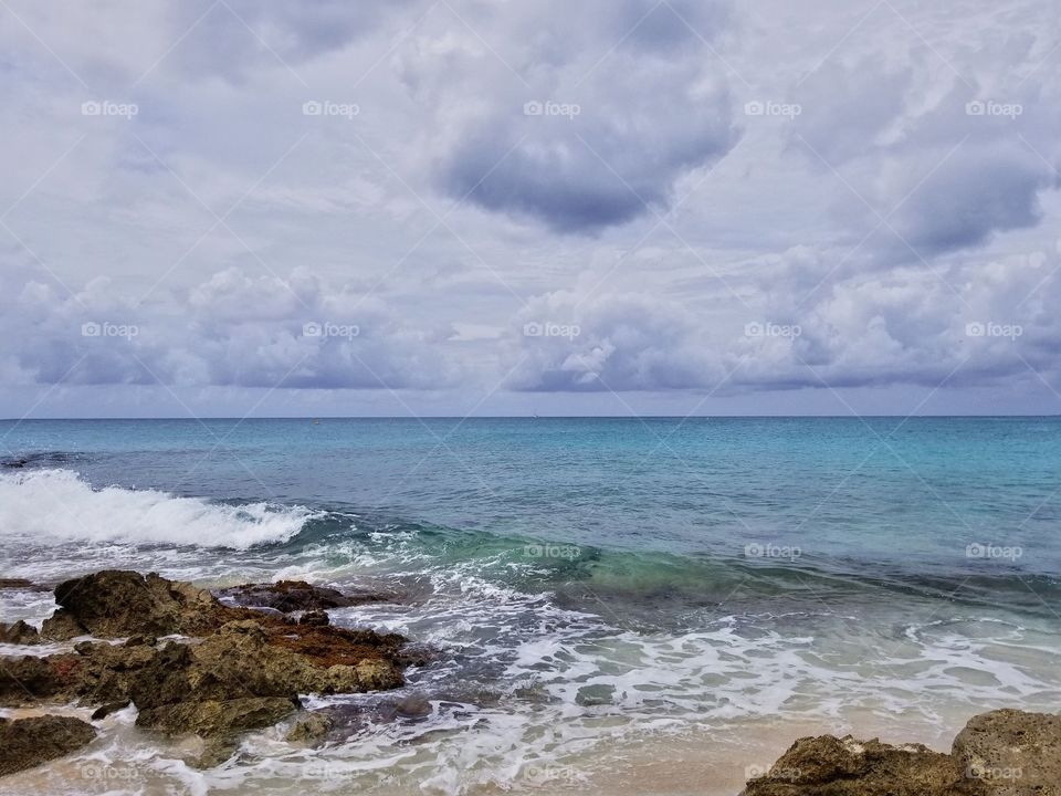 Clouds everywhere..Maho beach St Maarten