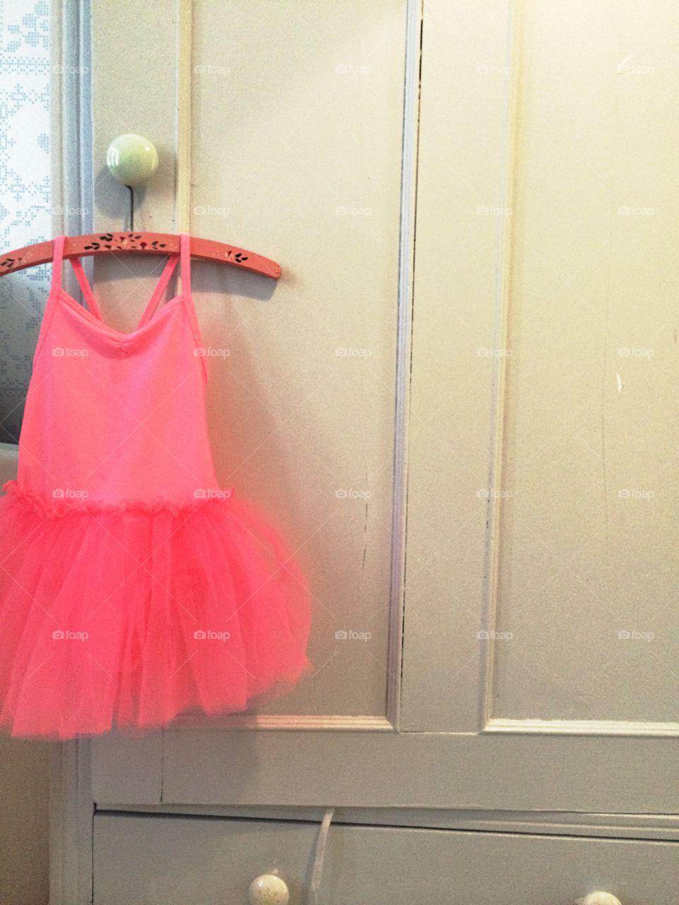 Ballerina dress. Ballerina dress on hanger