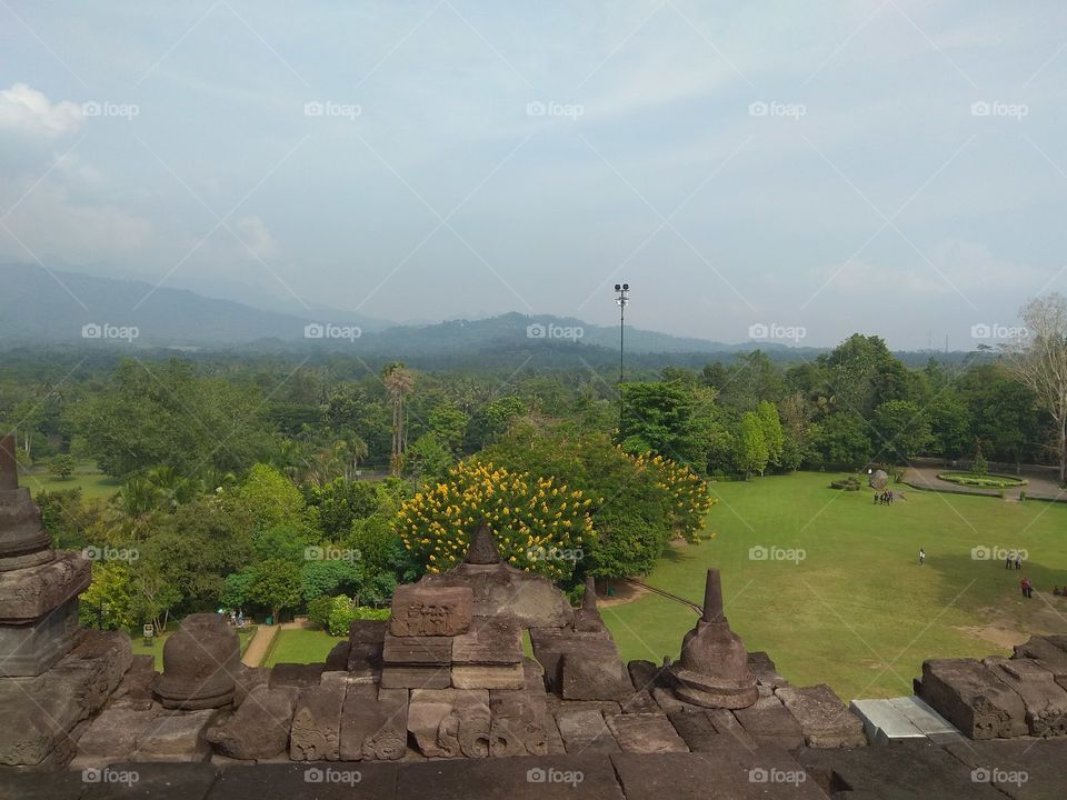 View from Borobudur Temple