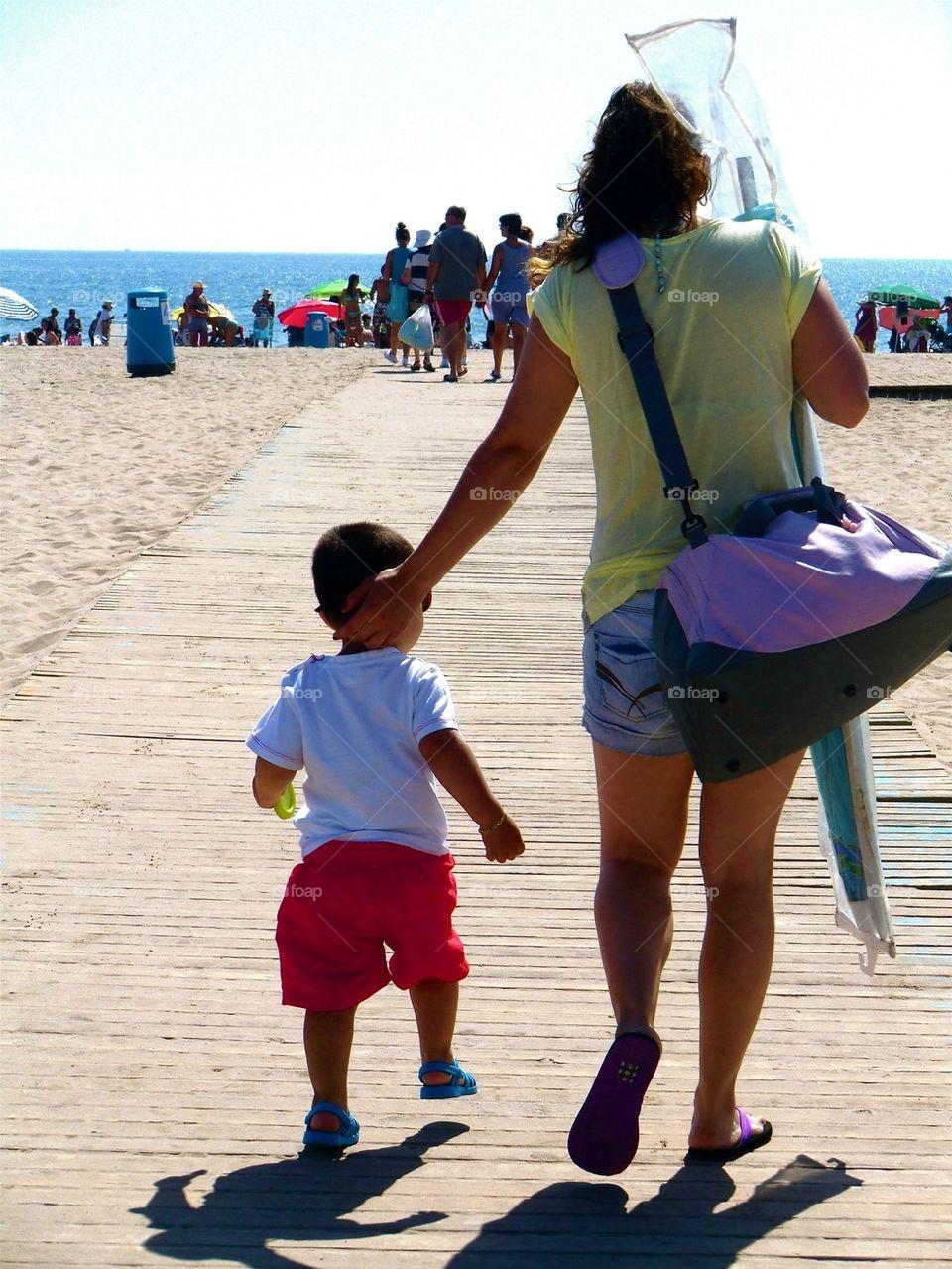 Taking a walk to the beach