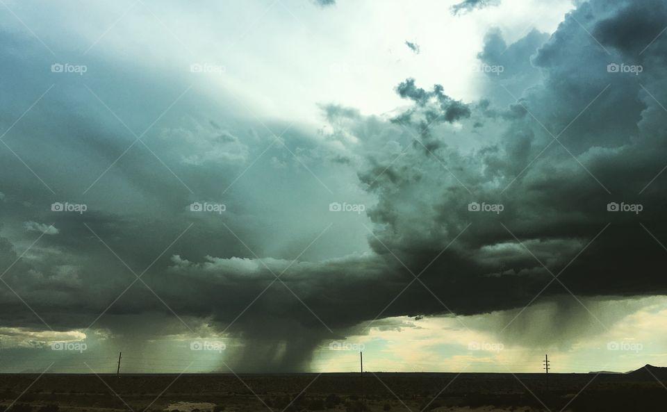 Monsoon season in New Mexico, USA
