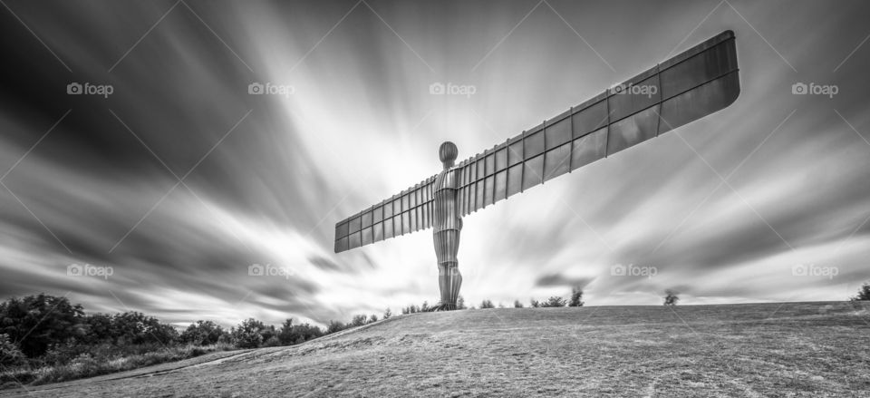The angel of the north. Long exposure