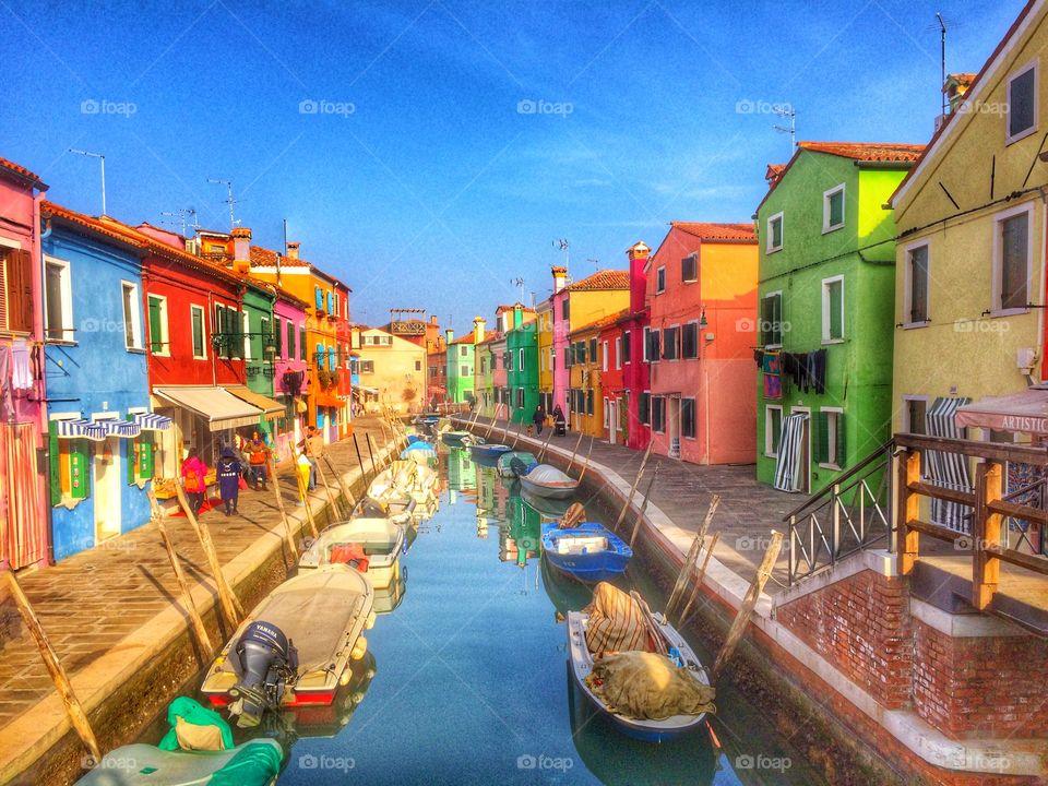 Colorful Burano, Venice, Italy