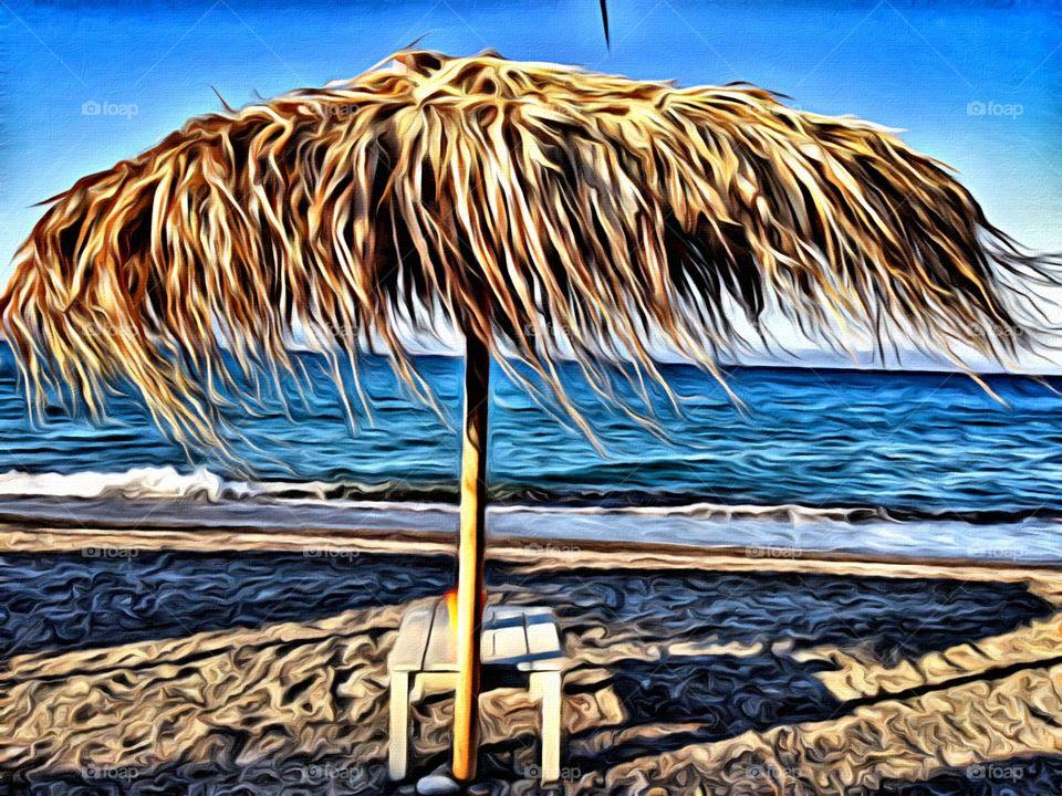 Parasol at the beach