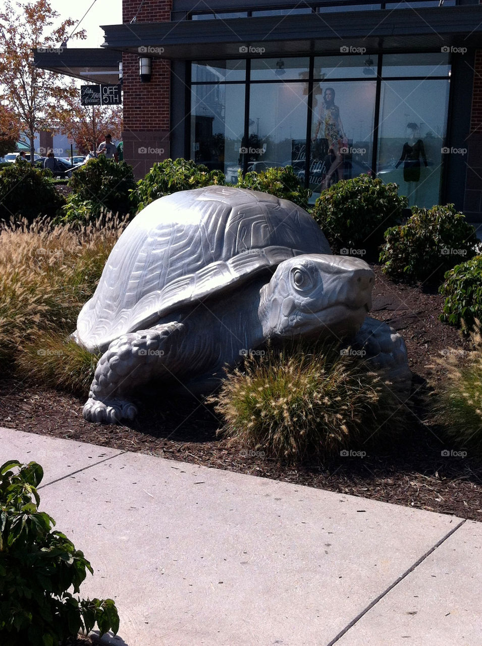 Turtle statue at the Legends Shopping Mall in Kansas City, Kansas.