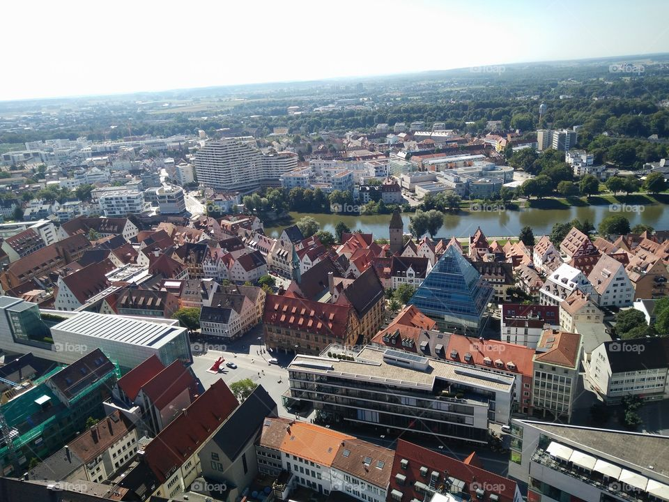 view from the top of the Ulmer Münster