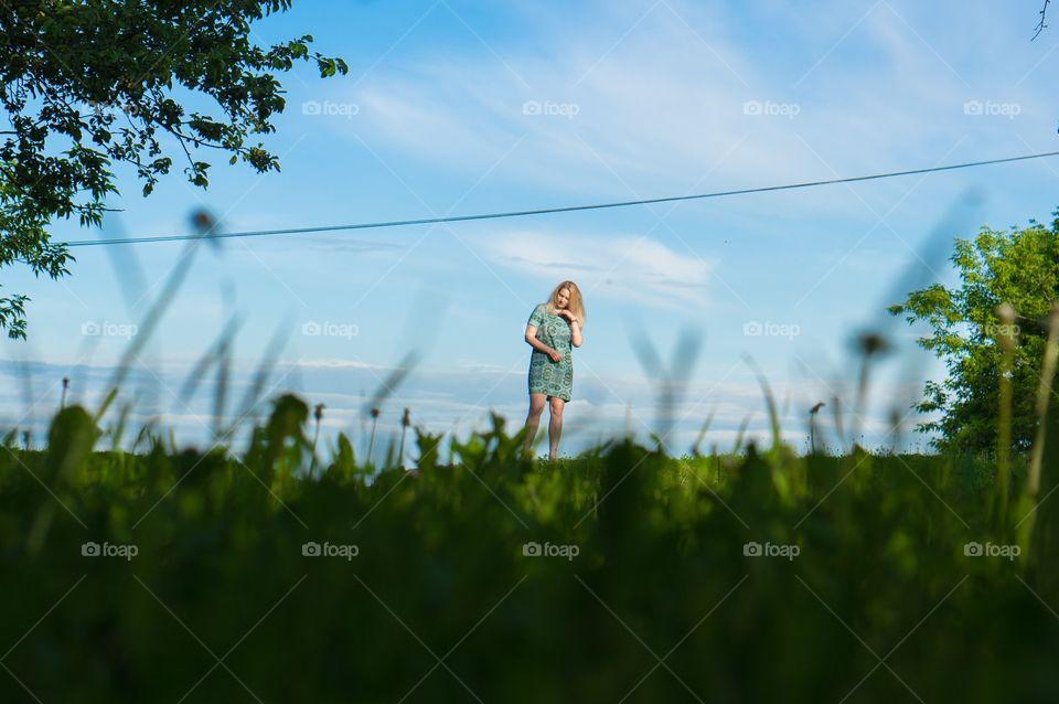Grass, Field, Landscape, Hayfield, Nature