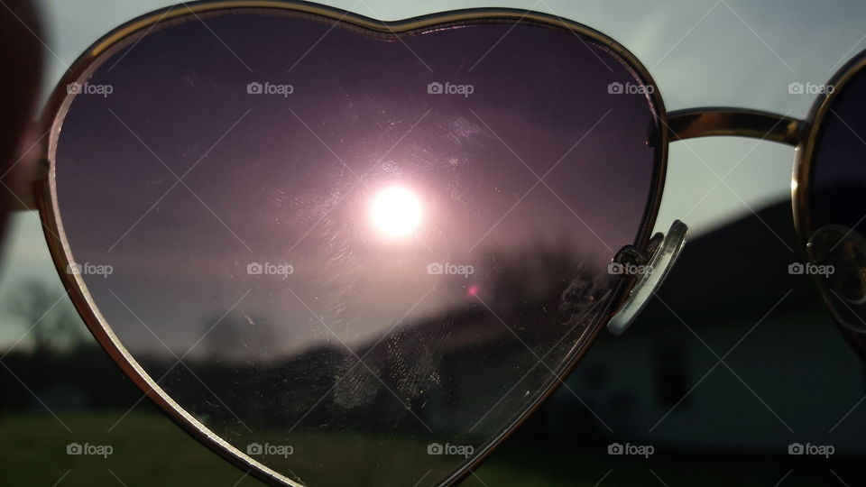 The Sky Through Heart Shaped Glasses
