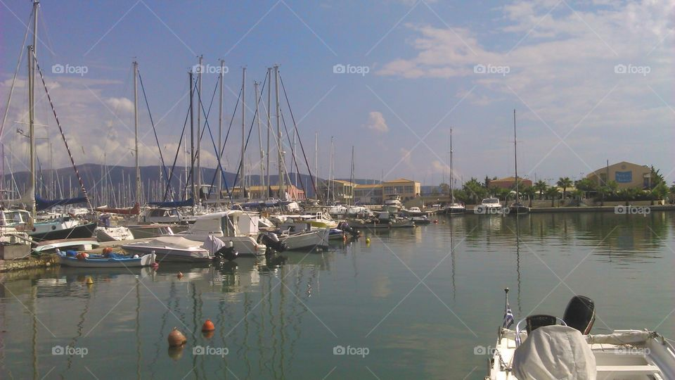 Water, Sea, Harbor, Sailboat, Boat