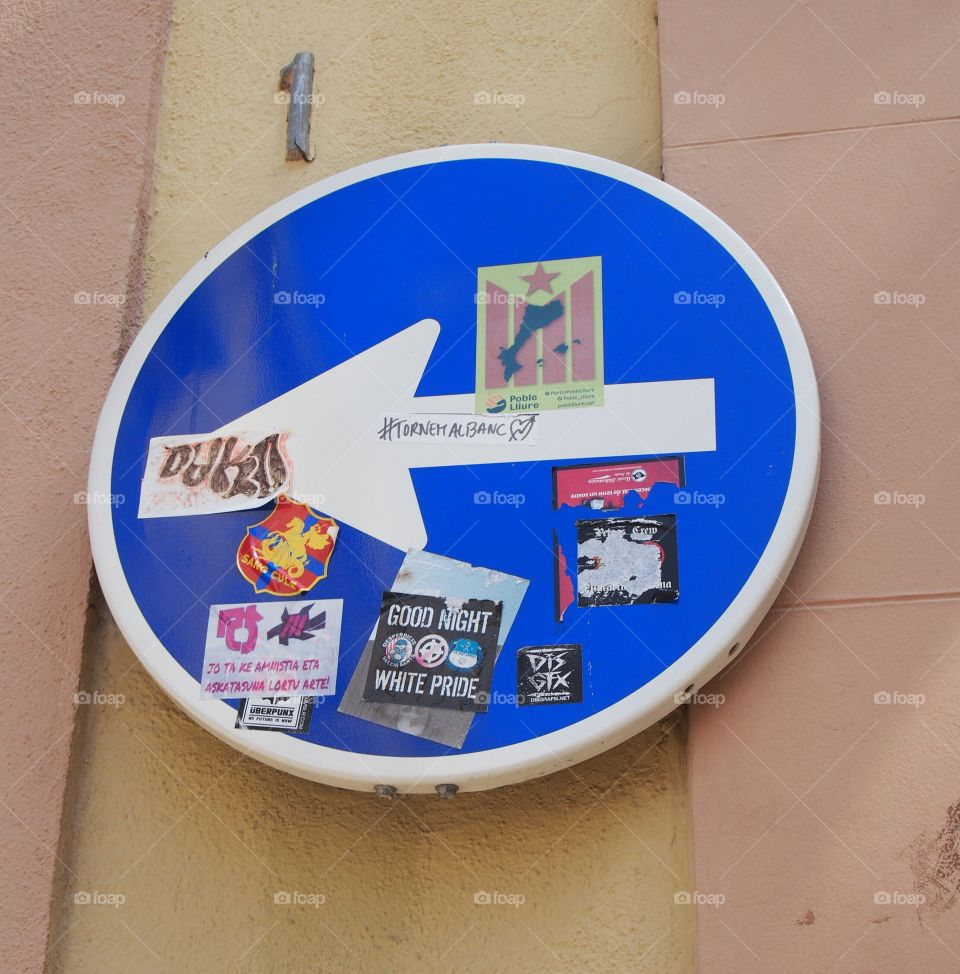 Mandatory address signal full of stickers