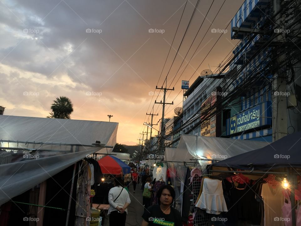 The  night market in countryside
