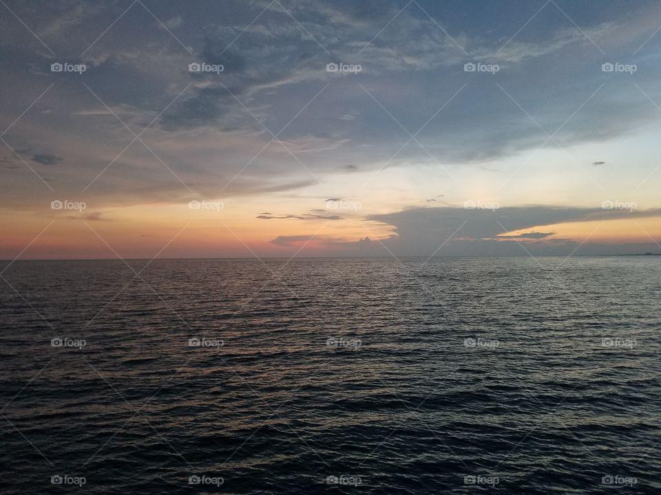 Sunset, Water, Dawn, Sun, Sea