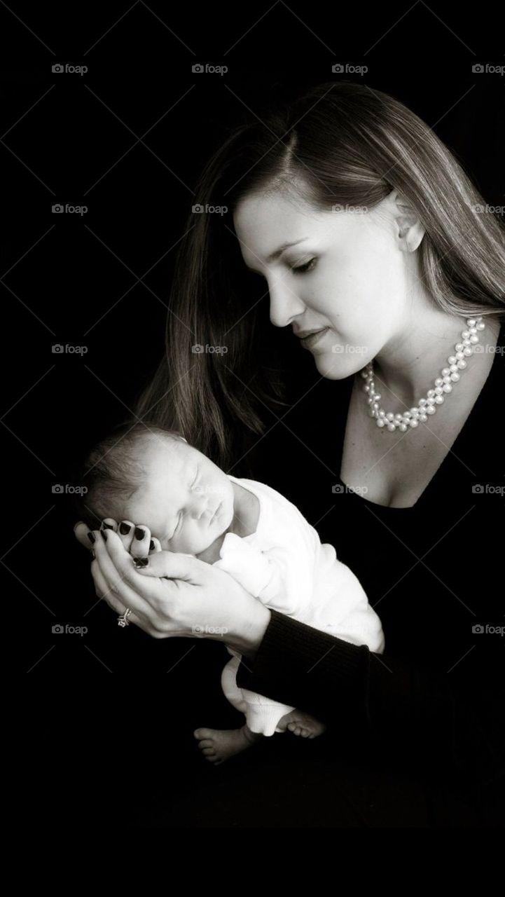 Mother Holding Newborn