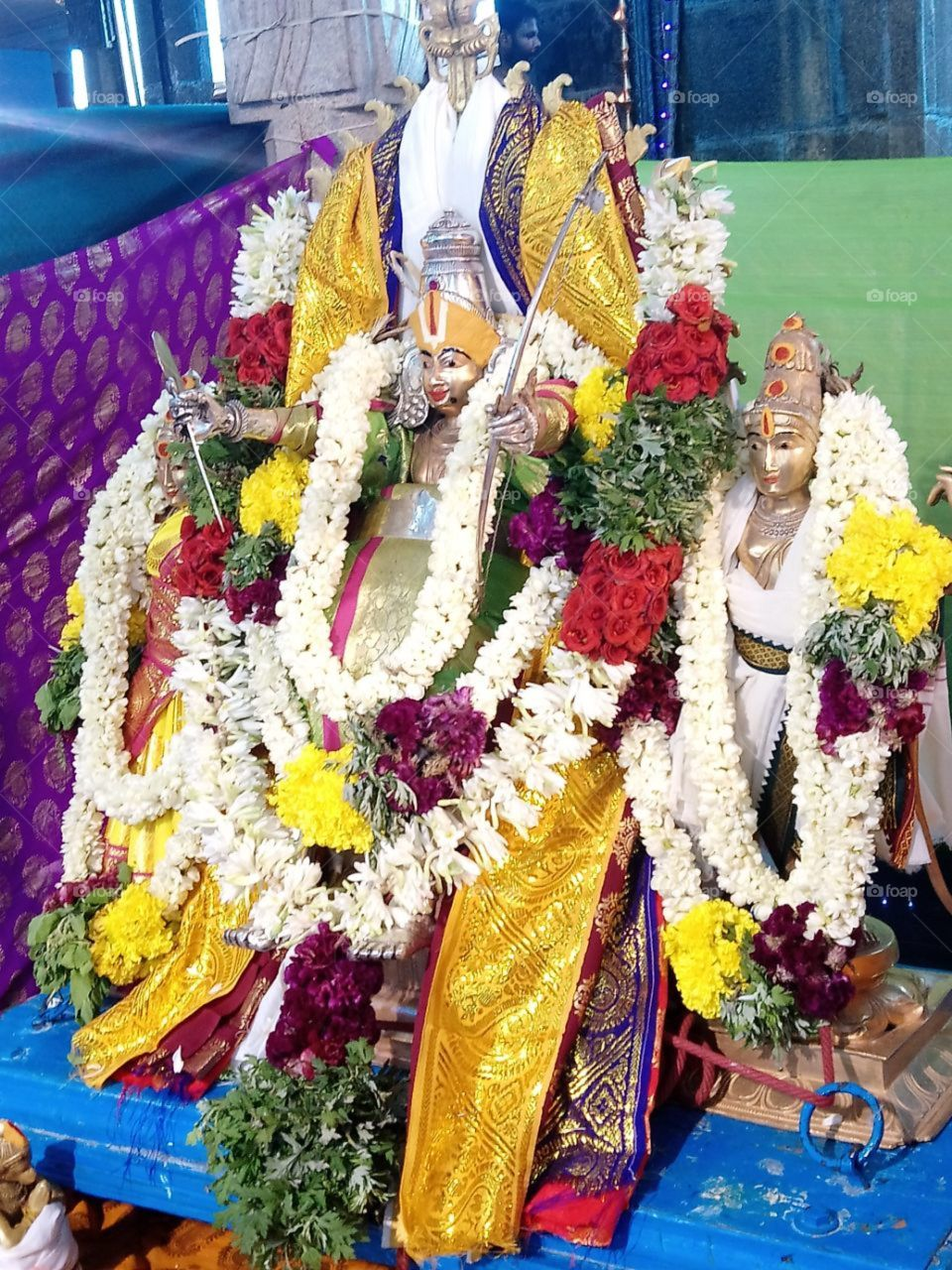 This is god Ramaswamy with Sita and Lakshman.God Ramaswamy wish we always and give positive energy to all.