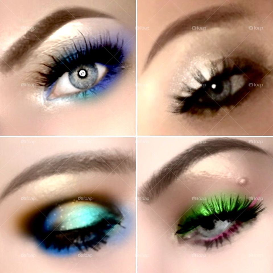 Colorful eyeshadow looks I created with Jaclyn Hill Morphe palette and I also used bhcosmetics foil 1&2 palettes.  Makeup is art.