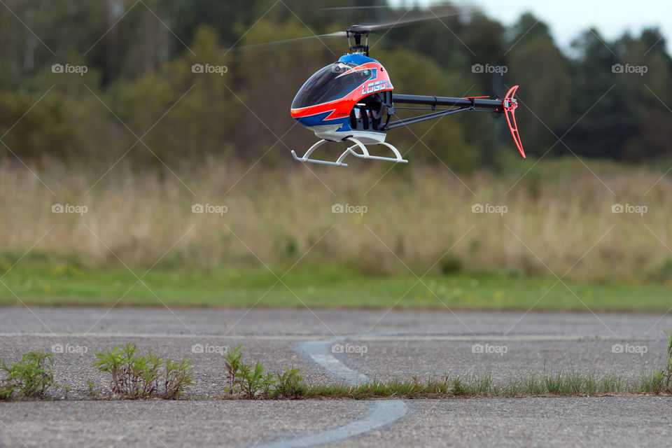 RC helicopter. Radiostyrd helikopter