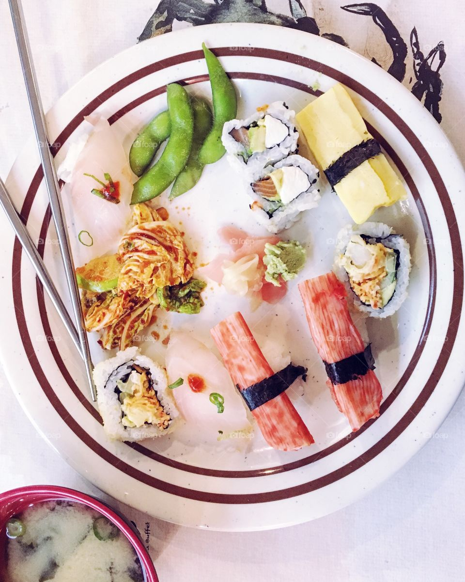 Sushi lunch! 1/2 in a series.