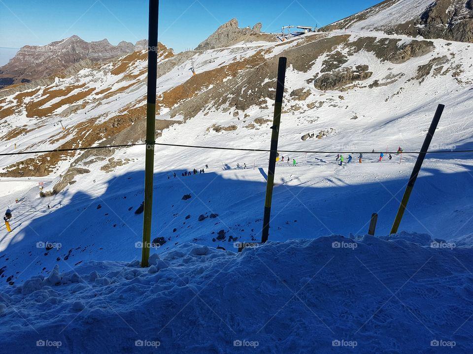 Ski Hill in the Swiss Alps