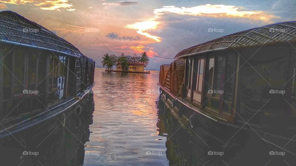 Alappuzha house boat sunset kerala backwaters house boats,sunset