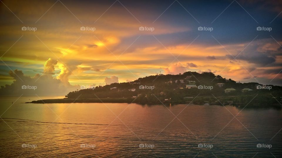 Sunsetting over beautiful St Lucia