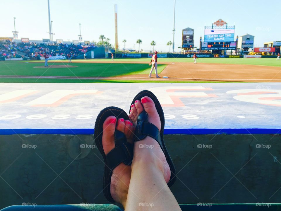 View at the Corpus Christi Hooks baseball game in Texas.