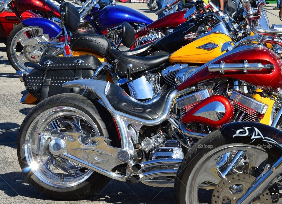 Bikes in primary colors